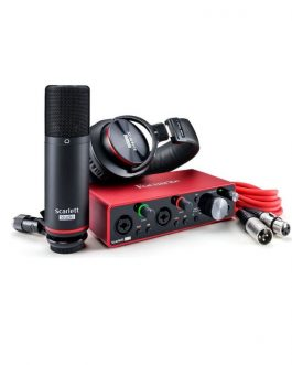 Set Estudio Interfaz Focusrite Scarlett 2i2 3rd Gen